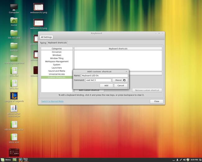 Getting the CM Storm Devastator keyboard back-lighting working in Linux.