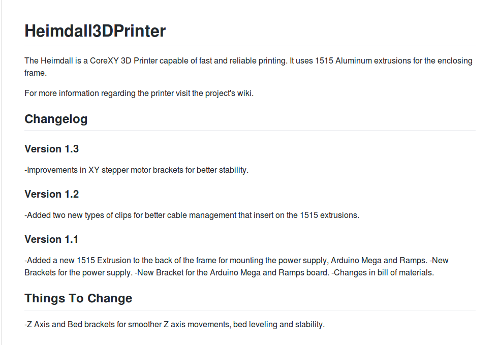 Heimdall 3D Printer Files Now On Github