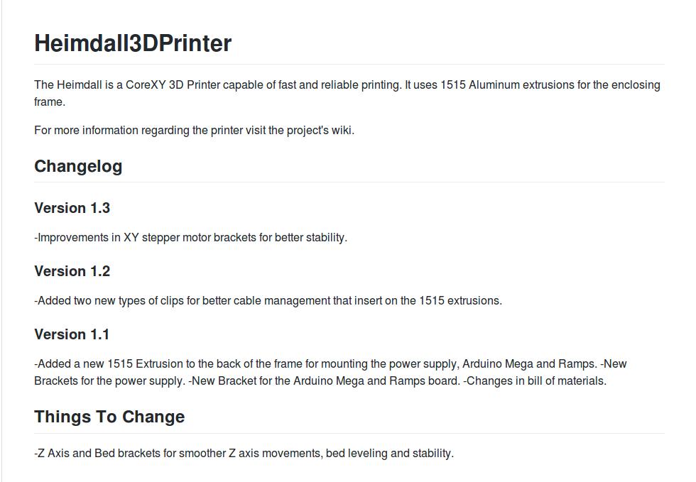 Heimdall 3D Printer Files Now On Github