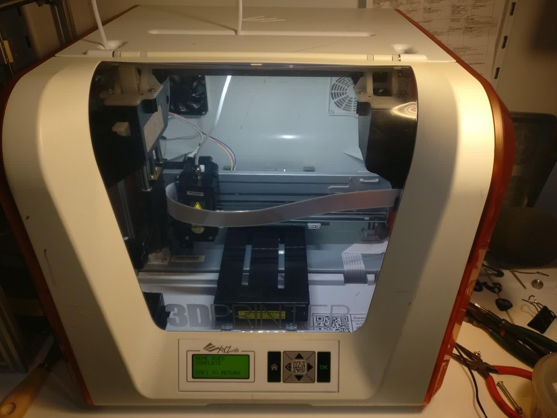Fixing a da Vinci Jr. 1.0 with a Broken Y Axis